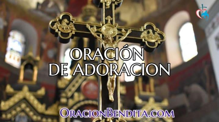 Oración de adoración católica