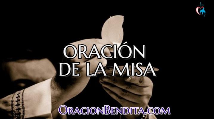Oración para celebrar misa