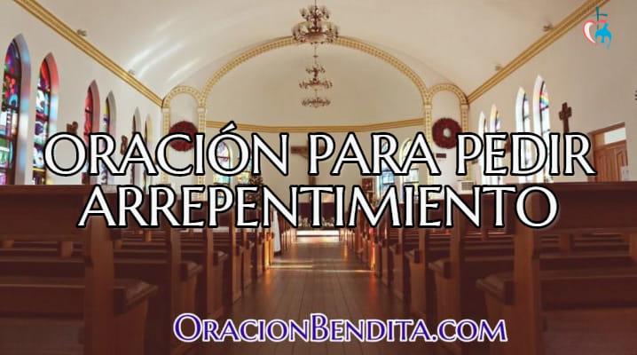 Oración de arrepentimiento católico