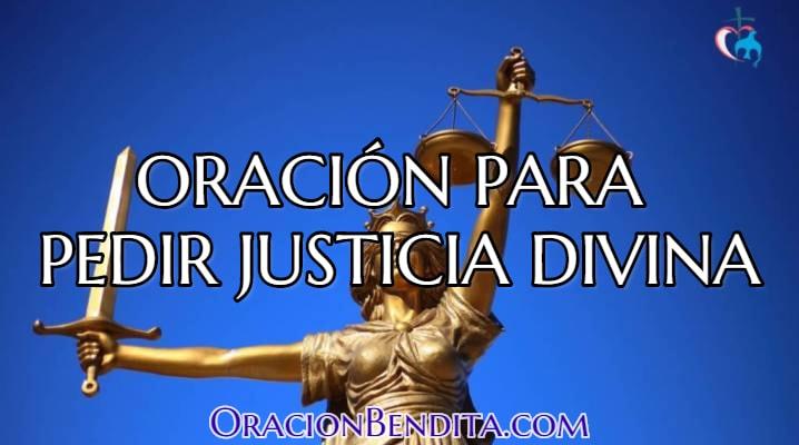 oración para pedir justicia divina
